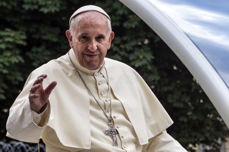 Visita Torino do papa Francesco Eu foto de stock