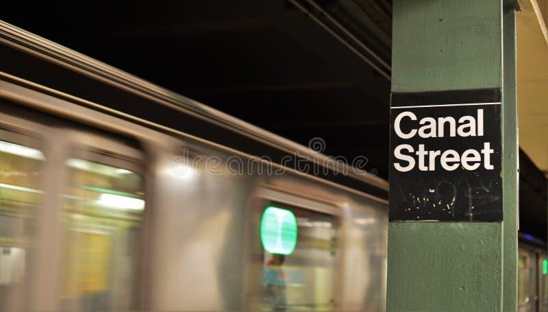 Visita turística del subterráneo del MTA Nueva York del Canal Street NYC Chinatown fotos de archivo