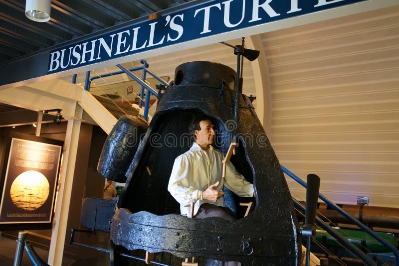 Visitando El Museo De La Fuerza Submarina En Groton CT USA fotografía de archivo