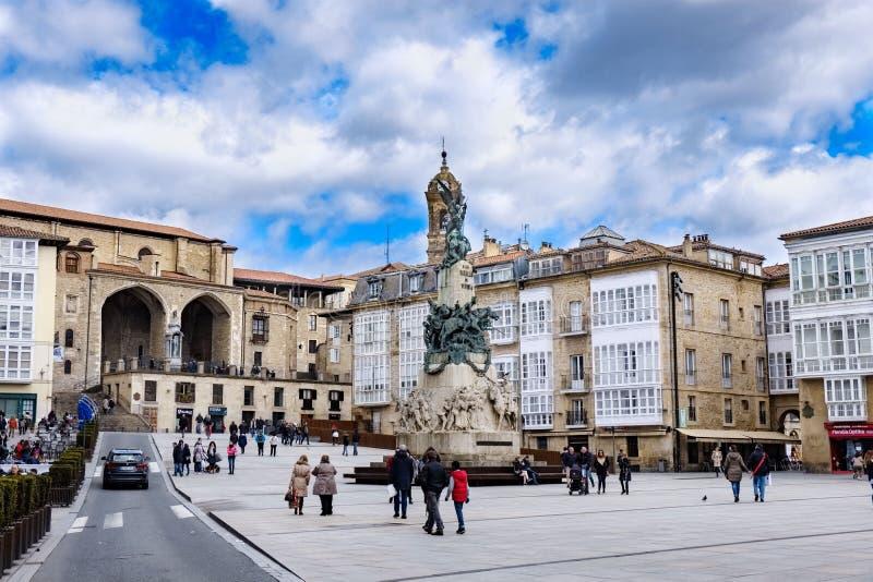 Visitando in Vitoria Spagna fotografie stock libere da diritti