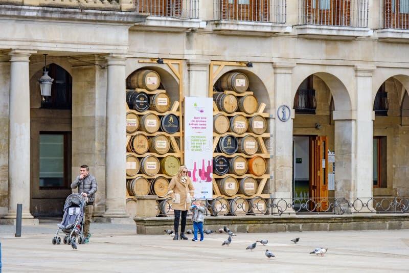 Visitando in Vitoria Spagna immagini stock libere da diritti