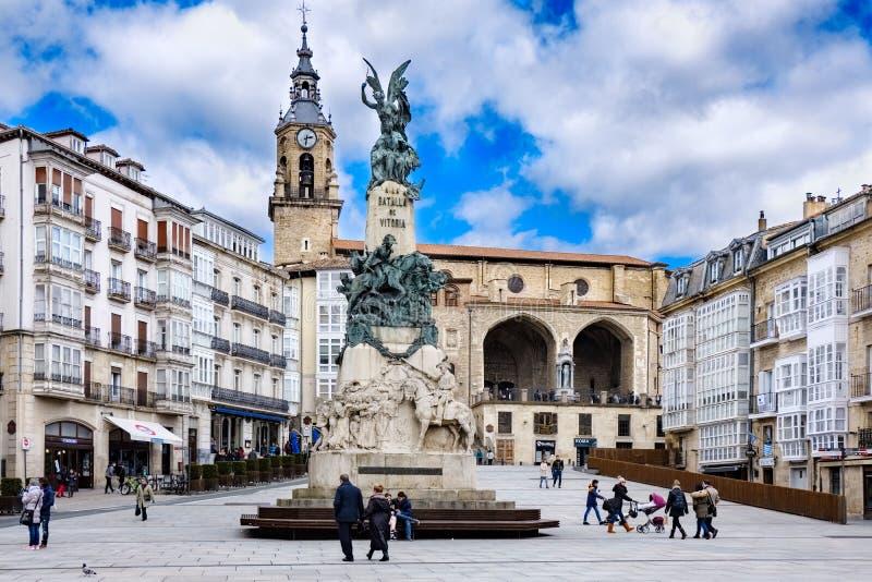 Visitando in Vitoria Spagna fotografia stock