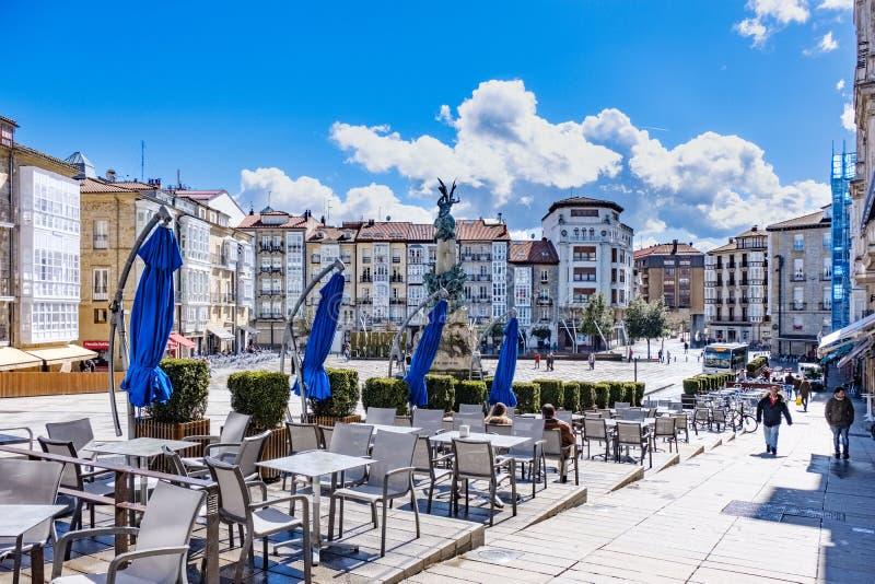 Visitando in Vitoria Spagna fotografia stock libera da diritti