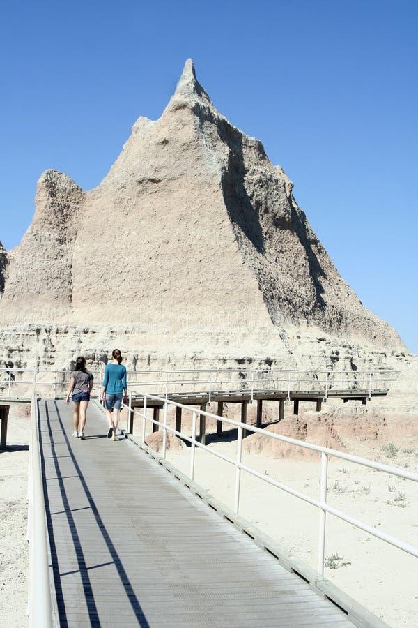 Visitantes ao parque nacional do ermo imagens de stock