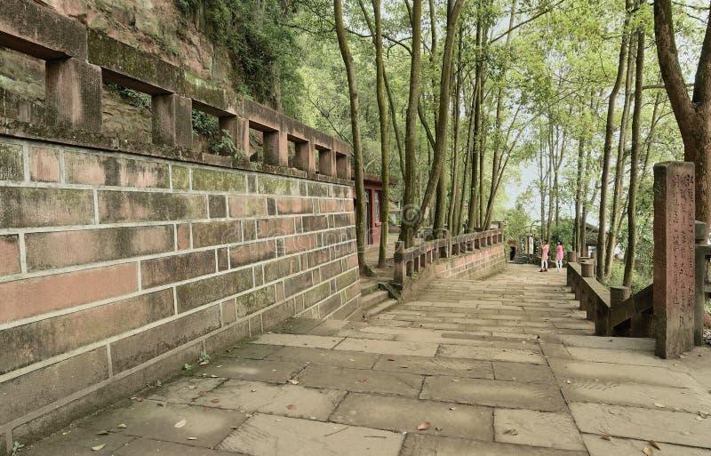 Visitantes China-espaçosos de Jiajiang ao canal fotos de stock