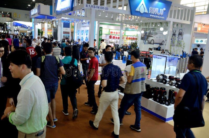 Visitantes da Feira de Cantão fotografia de stock