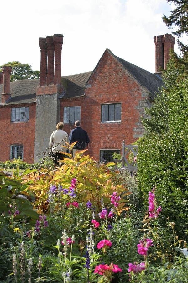 Visitantes del jardín imagen de archivo