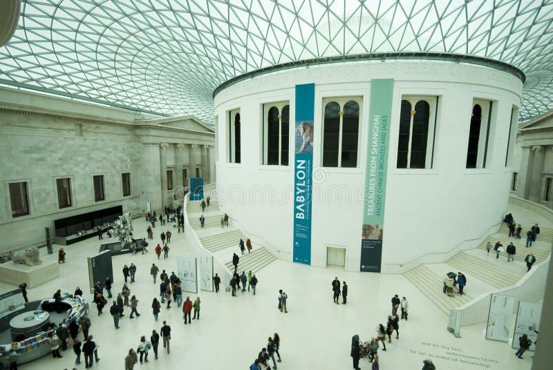 Visitantes do museu fotografia de stock