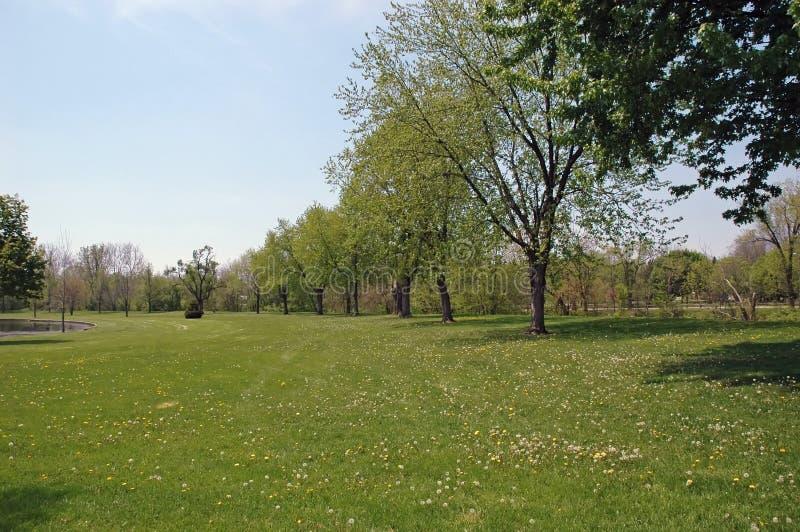 Visitar el parque imagen de archivo