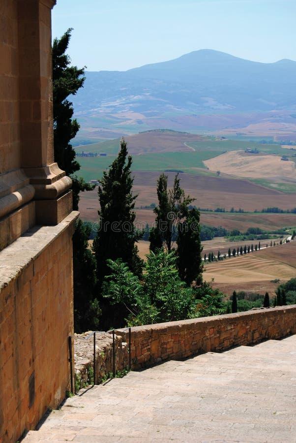 visitatat tuscan pienza города стоковое фото rf