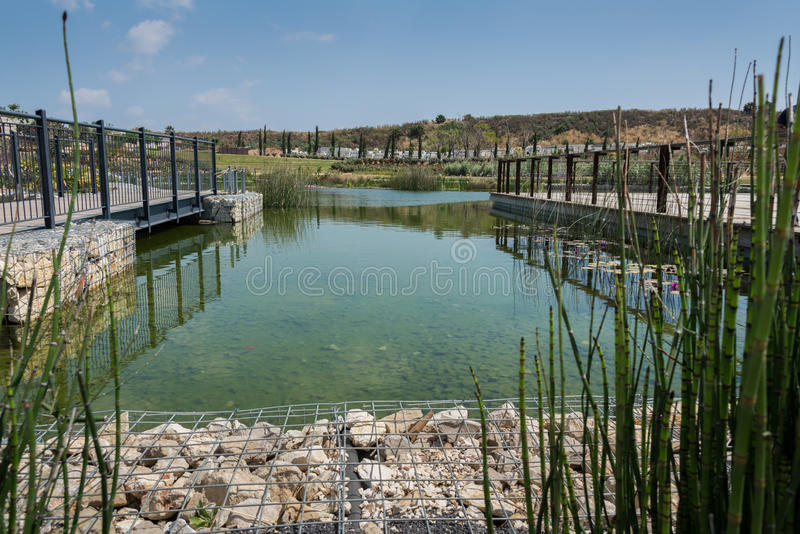 Visite à Hiriya (parc d'Ariel Sharon) photographie stock libre de droits