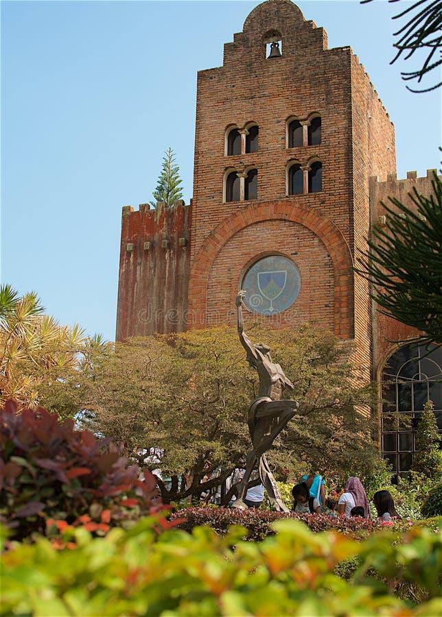 Visite à l'église de Caleruega images stock