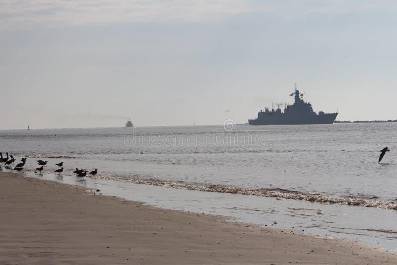 Visite chinoise de bonne volonté de marine images stock