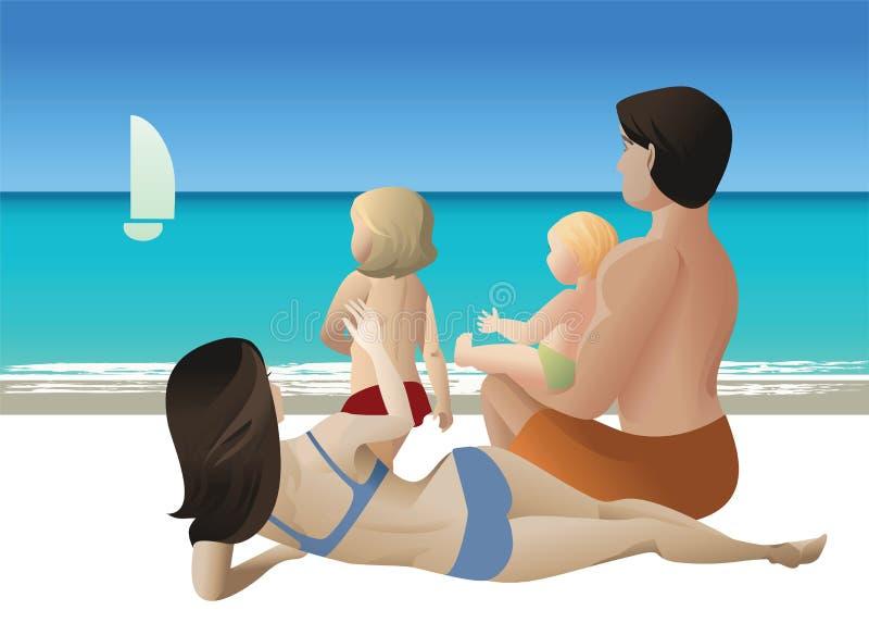 Visite de famille illustration libre de droits