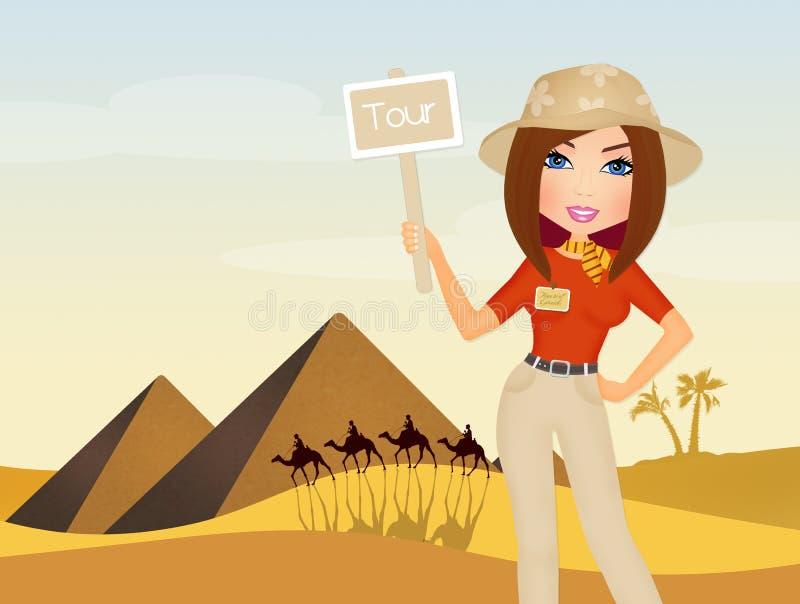 Visite de guide en Egypte illustration libre de droits