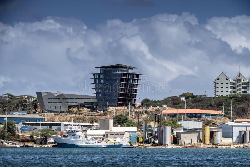 Visite de port de Willemstad images libres de droits
