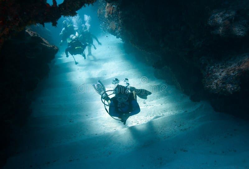 Visite de scaphandre - Grand Cayman photographie stock libre de droits