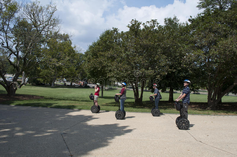 Visite de Segway de Washington DC photographie stock
