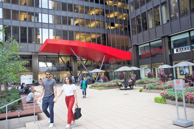 Visite de touristes Chicago l'Illinois, Etats-Unis image stock