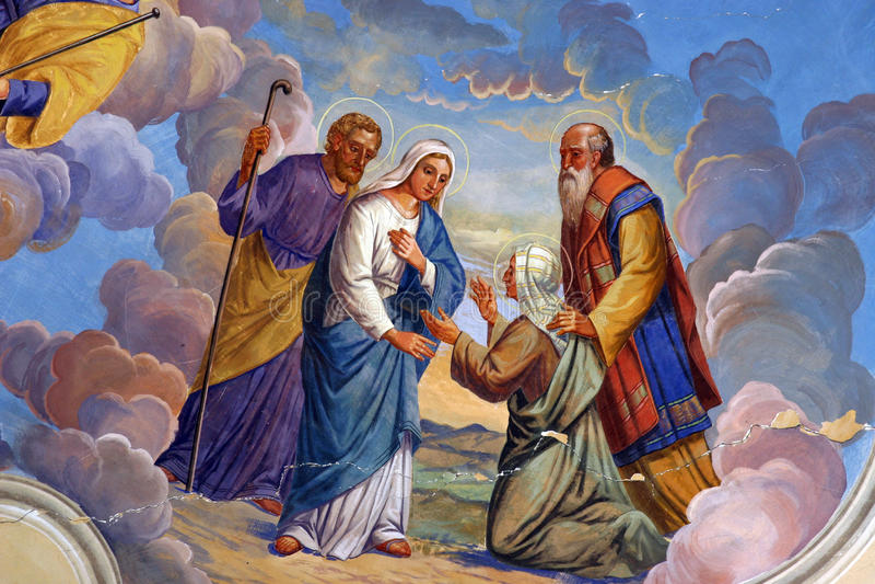 Visite de Vierge Marie illustration stock