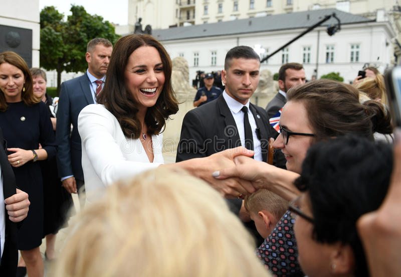Visite de William et de Kate en Pologne image libre de droits