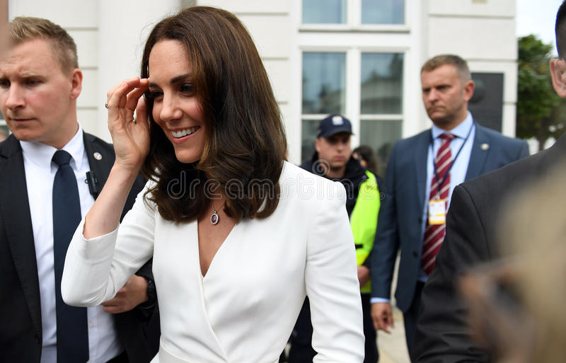 Visite de William et de Kate en Pologne photo stock