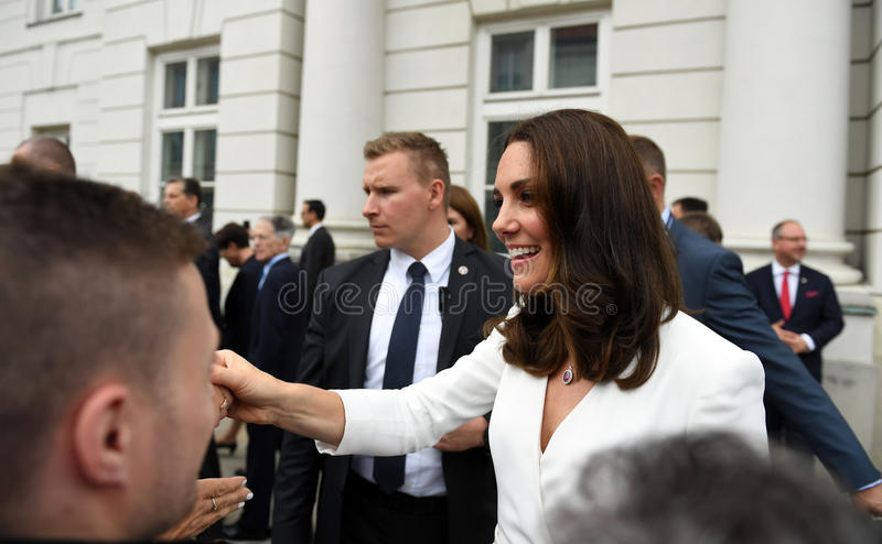 Visite de William et de Kate en Pologne image stock