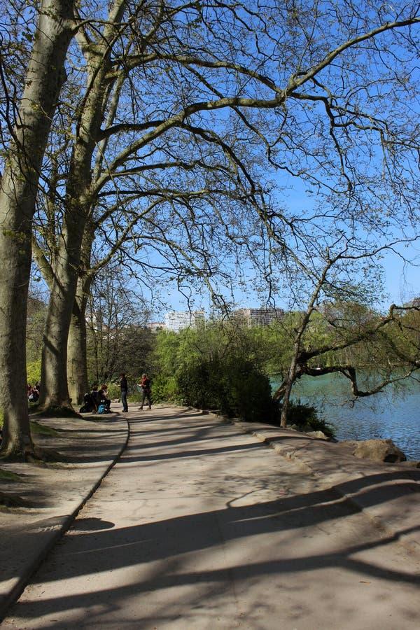 Visite en parc de Lyon photographie stock