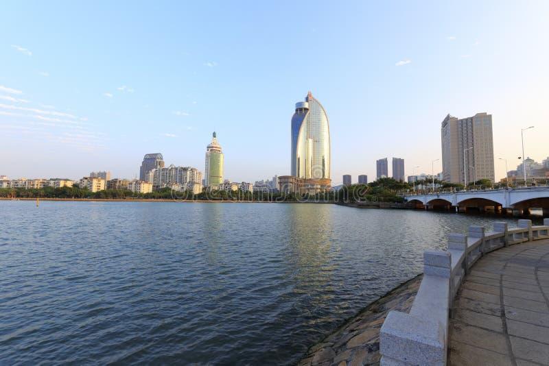 Visite touristique du lac de yundang photographie stock