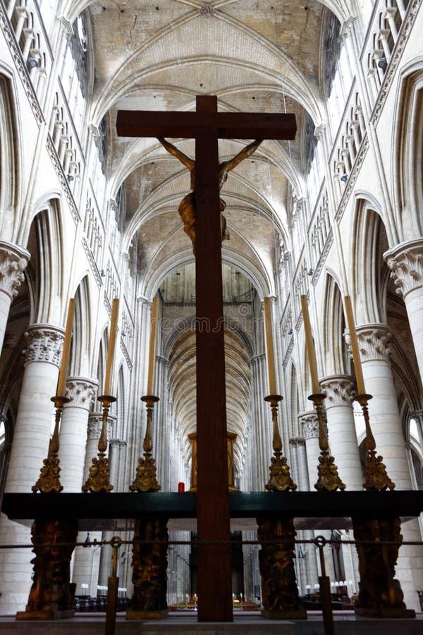 Visite tranquille à la cathédrale image stock