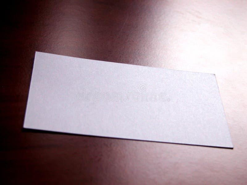 Visitenkarte 2 stockfoto