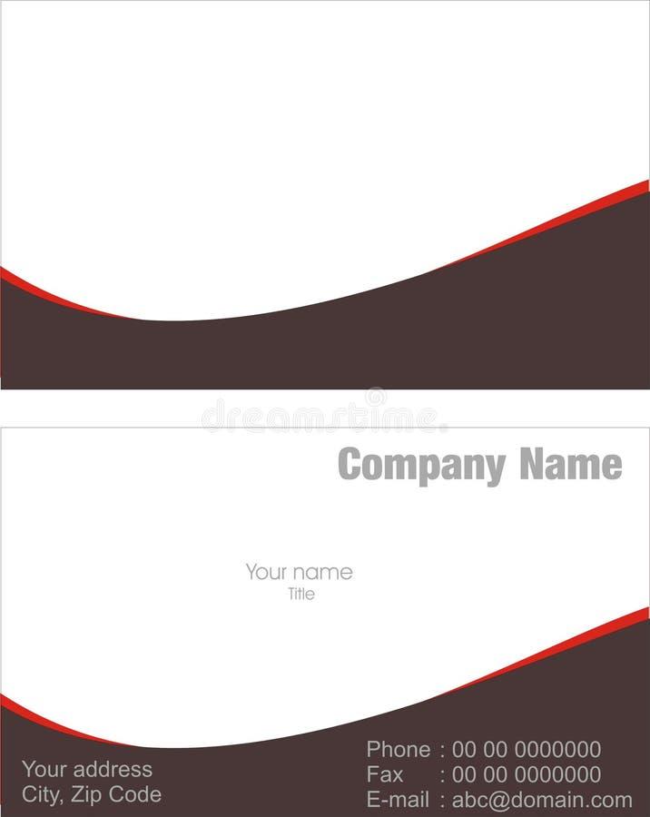 Visitenkarte lizenzfreie stockbilder
