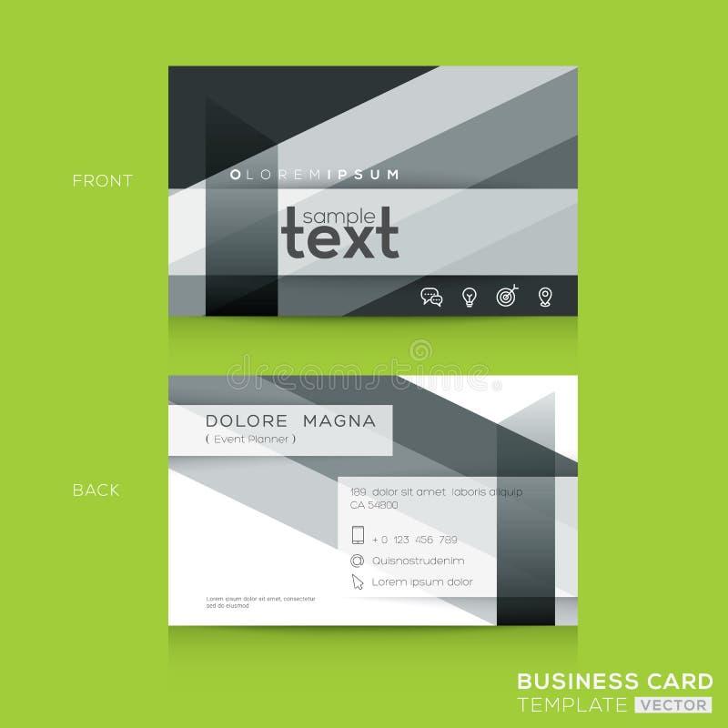 Visitenkarte-Design mit abstraktem Streifenbildungsformhintergrund lizenzfreie abbildung