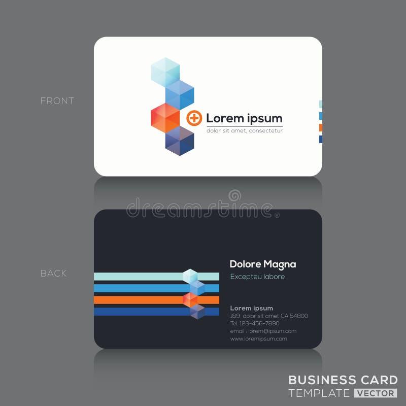 Visitenkarte-Design-Schablone stock abbildung