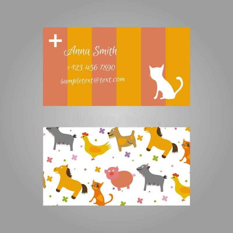Visitenkarte für Tierarzt stockbilder