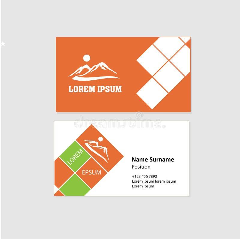 Visitenkarte-Front-und Rückseiten-Design stock abbildung