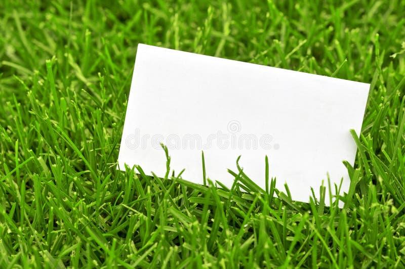 Visitenkarte im Gras stockbild