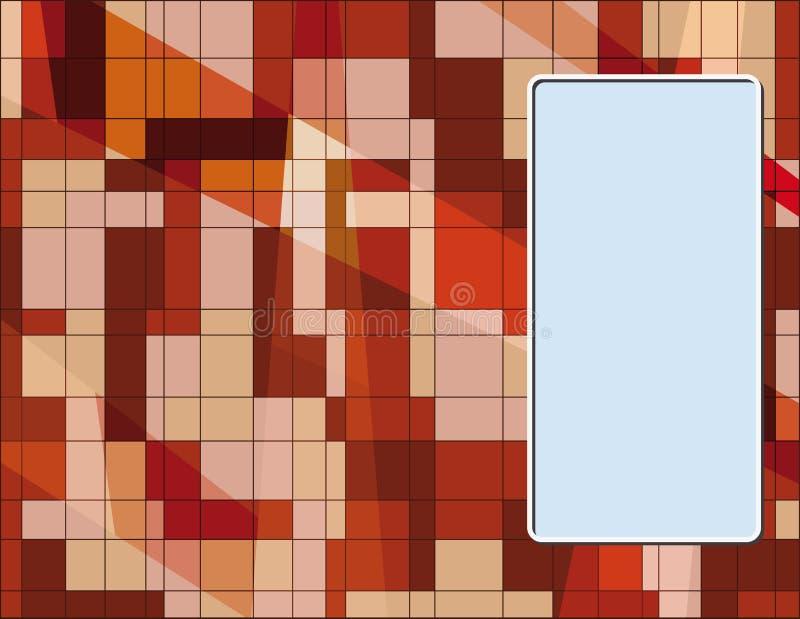 Visitenkarte mit abstraktem texture1 lizenzfreie abbildung