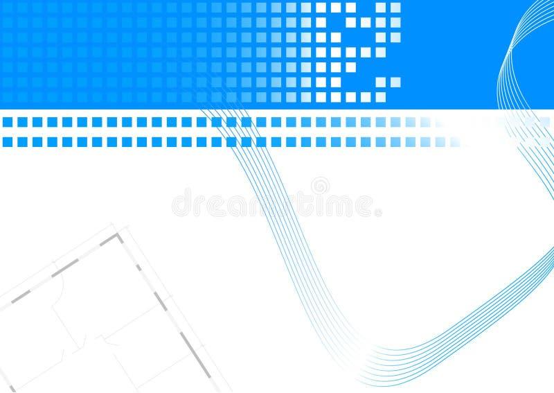Visitenkarte mit Gebäudeplan stock abbildung