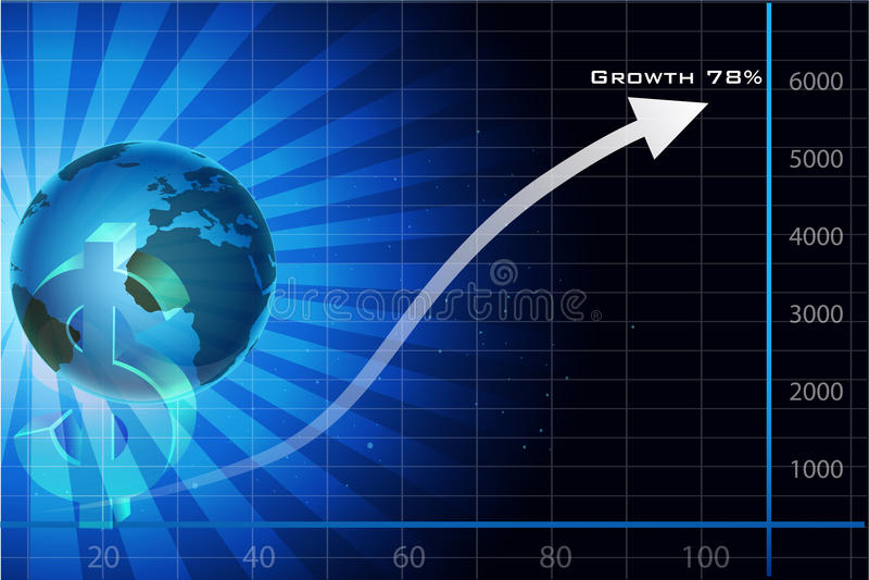 Visitenkarte mit Kugelpfeil und -dollar vektor abbildung