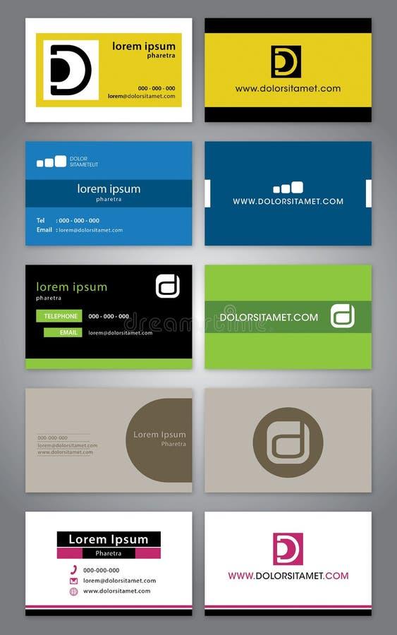 Visitenkarte-Schablone - Unternehmenssymbole lizenzfreie abbildung