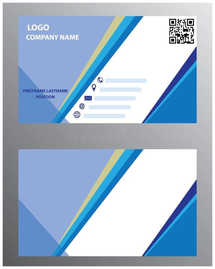 Visitenkarte-Vektor lizenzfreie abbildung