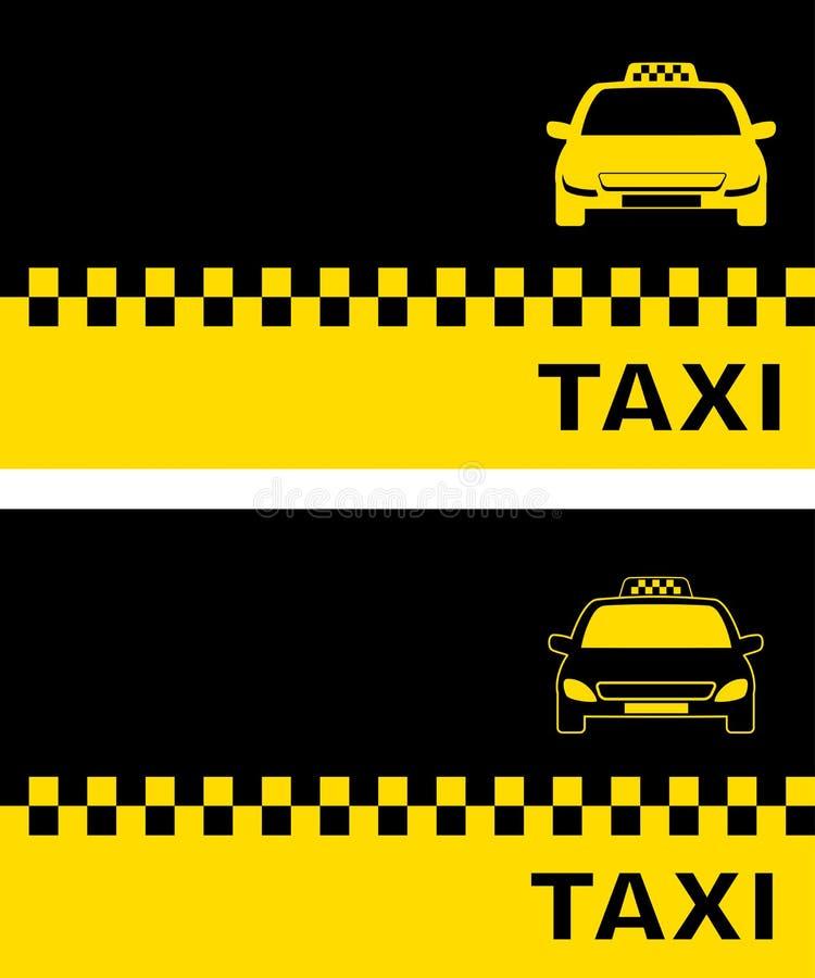 Visitenkarte Zwei Mit Taxi Vektor Abbildung Illustration