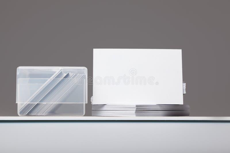 Visitenkarten 1 stockfoto