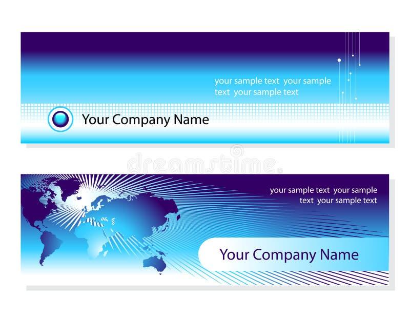 Visitenkarten lizenzfreie abbildung