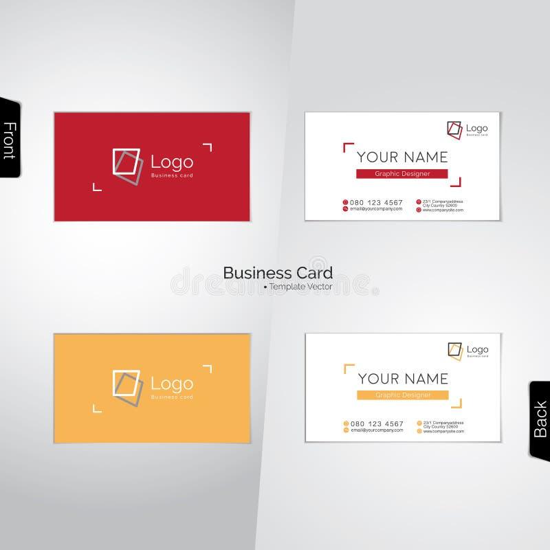 Visitenkarten Des Fotografen Und Des Grafikdesigners Vektor