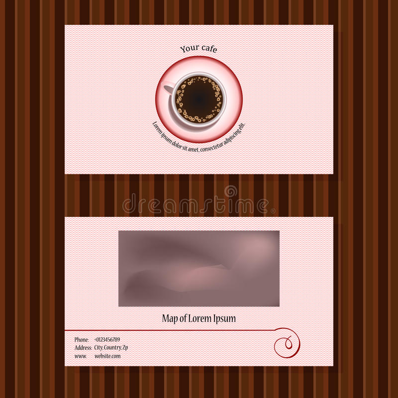 Visitenkarten für Café vektor abbildung