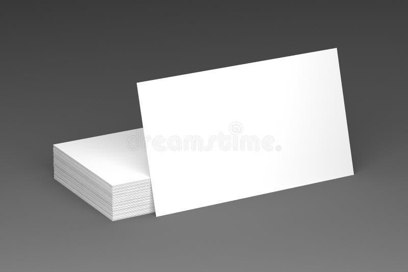 Visitenkarten löschen Modell - Schablone, Illustration 3D stock abbildung