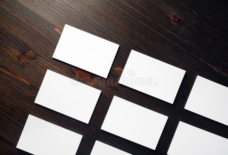 Visitenkarten-Modell stockbild