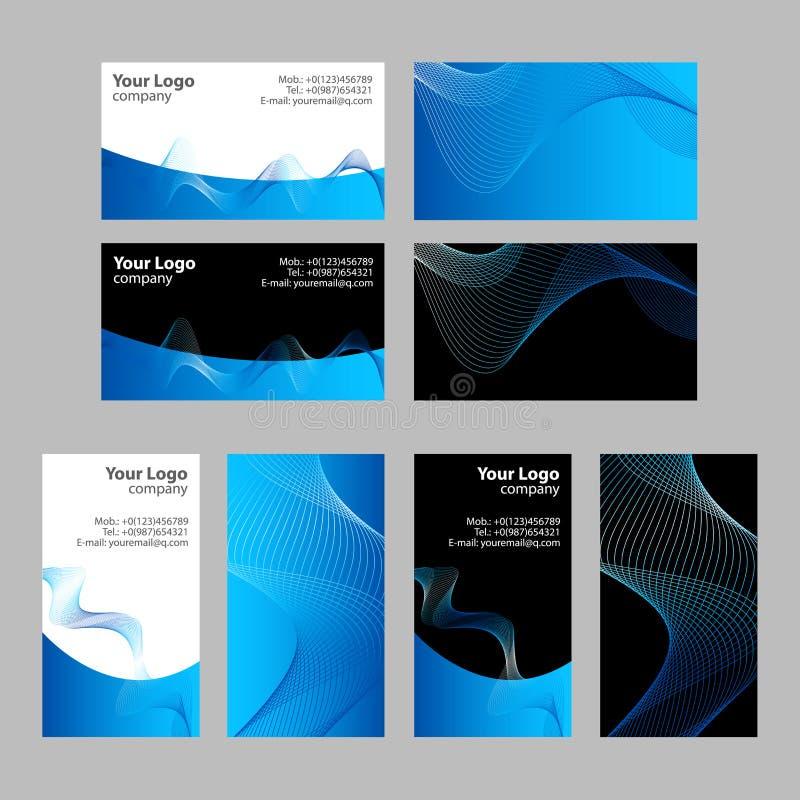 Visitenkarteschablonen, -frontseite und -rückseite lizenzfreie abbildung